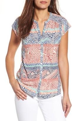 Women's Lucky Brand Rena Border Print Top $49.50 thestylecure.com