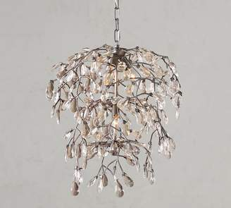 Pottery Barn Bella Crystal Round Chandelier