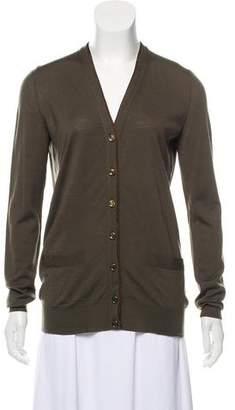 Saint Laurent Knit Button-Up Cardigan
