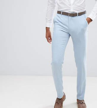 Blue Cross ASOS DESIGN ASOS TALL Wedding Skinny Suit Pants In Soft Hatch