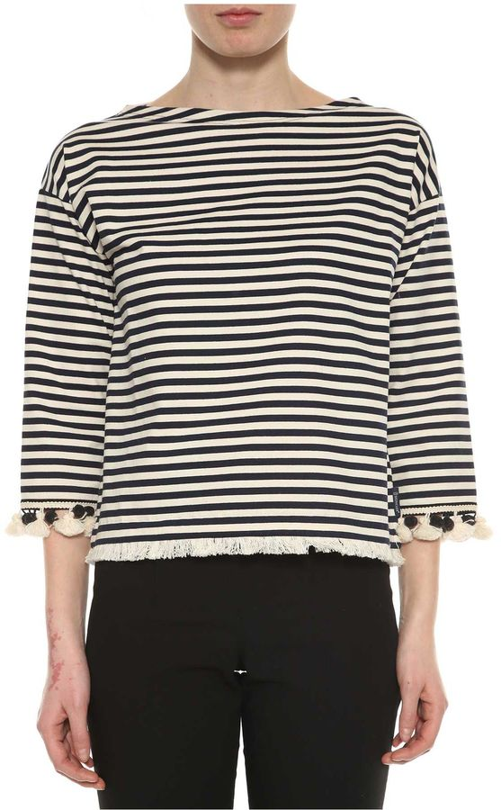 Moncler Moncler Striped Long Sleeves T-shirt