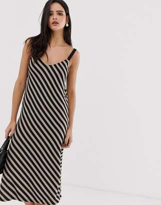 Stradivarius diagonal stripe dress