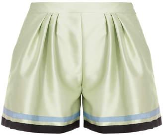Andrew Gn Grosgrain Stripe Shorts