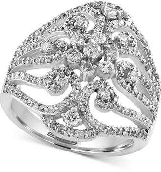 Effy Diamond Ring (1-1/10 ct. t.w.) in 14k White Gold