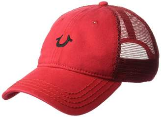 True Religion Men's CORE Logo Trucker Cap