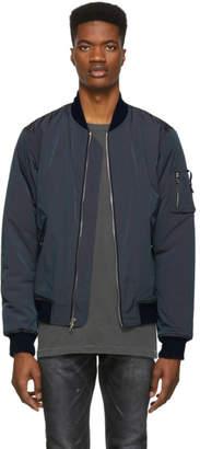 John Elliott Navy Iridescent Bogota Bomber Jacket
