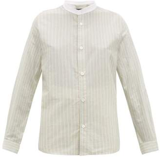 A.P.C. Bettina Striped Cotton Shirt - Womens - Green Multi