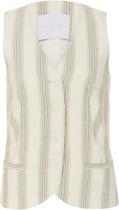 Blend of America Noon by Noor Andy Silk Striped Vest