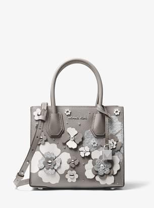 MICHAEL Michael Kors Mercer Floral Embellished Leather Crossbody