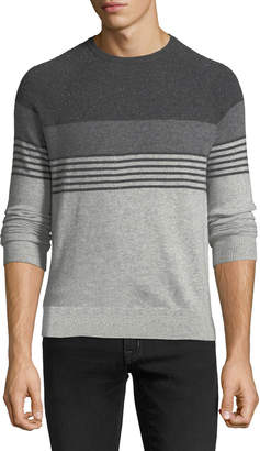Neiman Marcus Men's Cashmere Striped Crewneck Sweater