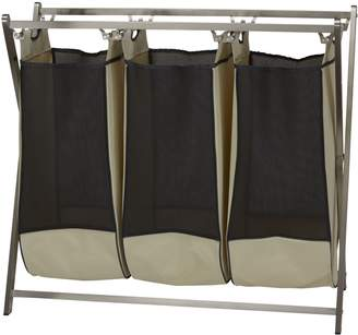 Household Essentials 7092-1 Stainless Steel 3-Bag Laundry Sorter