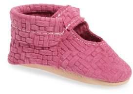 Freshly Picked Pink Lemonade Embossed Leather Crib Shoe