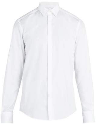 Lanvin Single Cuff Cotton Poplin Shirt - Mens - White