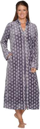 Carole Hochman Stretch Velour Full Zip Lounge Robe