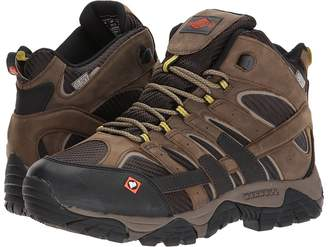 Merrell Work Moab 2 Vent Mid Waterproof SR Men's Work Lace-up Boots