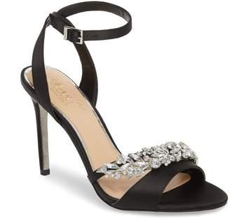 Badgley Mischka Merida Crystal Embellished Ankle Strap Sandal