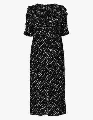 Marks and Spencer Maternity Polka Dot Waisted Midi Dress