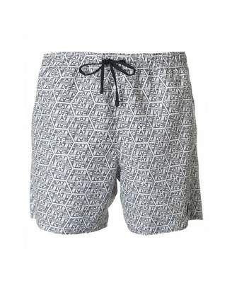 Ea7 Swimwear Seaworld All Over Logo Swim Shorts