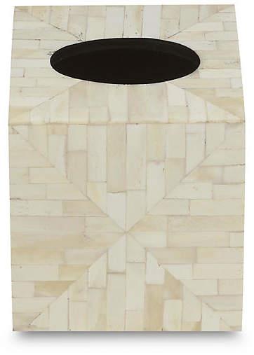 Amala Tissue Box Cover - Tan