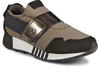 Bugatti Womens Grip-Tape Leather Sneakers