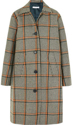 REJINA PYO - Cary Houndstooth Wool-blend Coat - Green