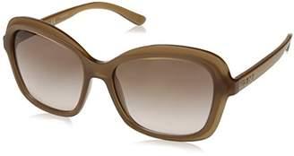 DKNY Women's Injected Woman Rectangular Sunglasses
