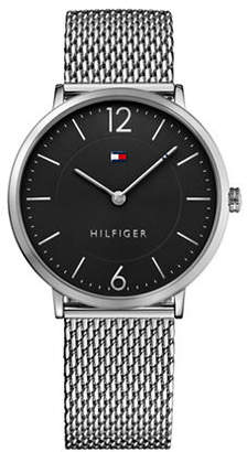 Tommy Hilfiger Silvertone Stainless Steel Analog Mesh Bracelet Watch