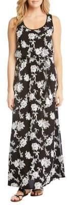 Karen Kane Embroidered Floral Maxi Dress