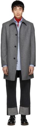 HUGO Grey Wool Mitask 1911 Coat