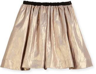 Bonpoint Metallic A-Line Skirt, Size 3-8
