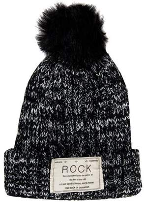 AERUSI Women's Pompom Rock Knit Autumn Winter Beanie [One Size Fits Most]