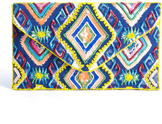 Ranees Beaded Geometric Clutch