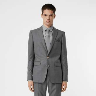 Burberry English Fit Metal Button Wool Tailored Jacket