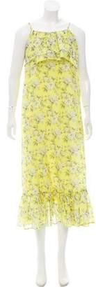 Robert Rodriguez Silk-Blend Floral Print Dress