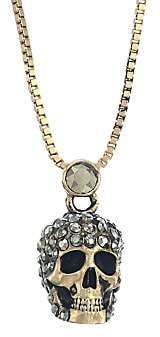 Alexander McQueen Women's Crystal Skull Goldtone Pendant Necklace