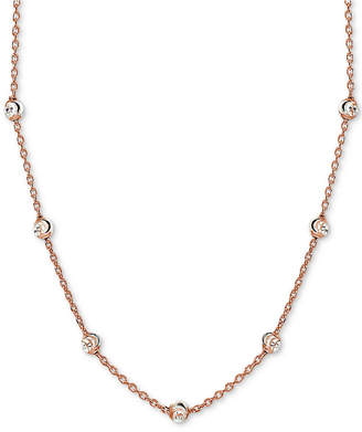 """Giani Bernini Beaded Station Chain Necklace in 18k Gold-Plated Sterling Silver, 18"""" + 2"""" extender"""