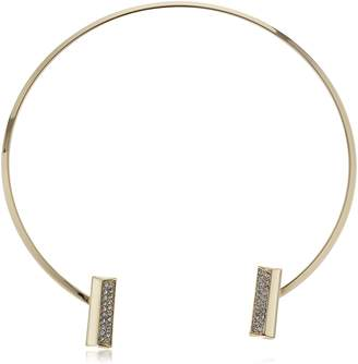 Danielle Nicole Women's Pave Bar Collar Chocker Necklace