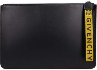 Givenchy Black Leather Clutch Bag