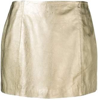 P.A.R.O.S.H. metallic mini skirt