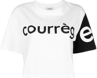 Courreges colour block cropped T-shirt