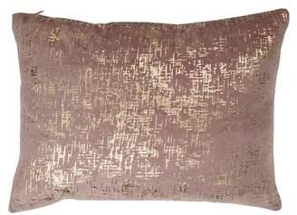 """A&B Home 14\"""" x 20\"""" Dashiell Silver Beaded Pillow - Dark Pink"""