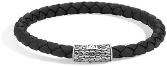 John Hardy 'Classic Chain' Woven Leather Bracelet
