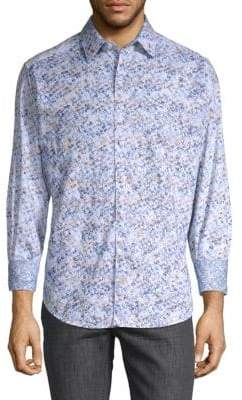 Robert Graham Printed Cotton Button-Down Shirt
