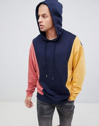 Asos Design DESIGN oversized hoodie with colour blocking