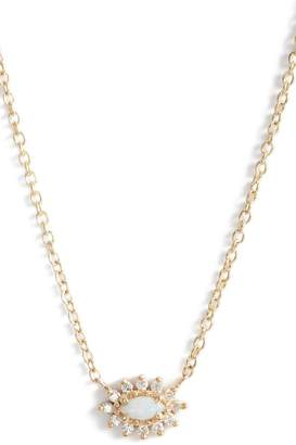 Chicco Zoe Diamond & Opal Cluster Pendant Necklace
