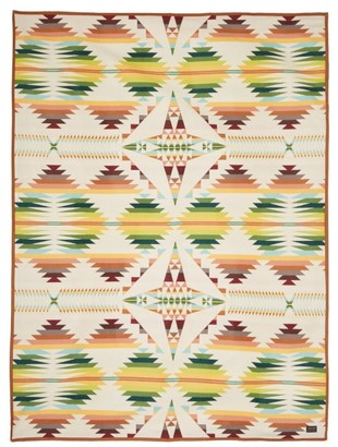 Pendleton Keith Richards Wool And Cotton Blend Blanket - Multi