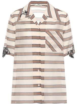 Fendi Striped cotton and silk shirt