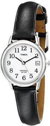 Timex Women's T2H331 Indiglo Leather Strap Watch