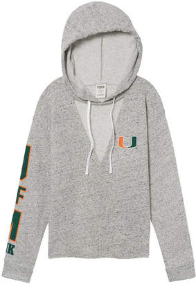 PINK University of Miami Choker Neck Pullover Hoodie