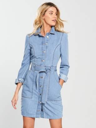 Very Denim Shirt Dress - Light Blue